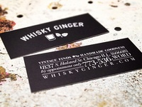Whisky Ginger Business Cards