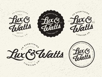 Lux and Watts logo concepts