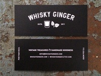 Whisky Ginger Card 2015