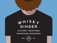 whisky ginger shirt bottle label