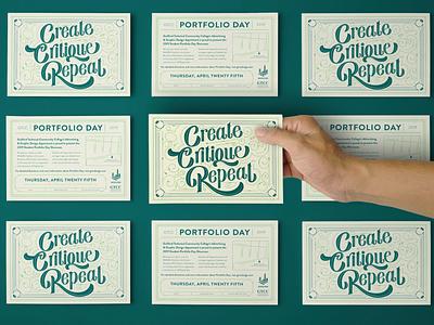 Portfolio Day Invitation 2019 illustration vector design invitation hand lettering handlettering calligraphy typography