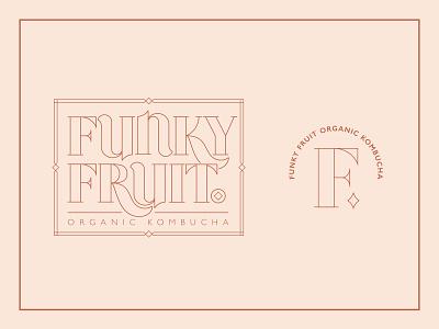 Funky Fruit Organic Kombucha typography lettering logo kombucha branding