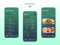 Fitness Club Mobile App | UX/UI