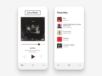 Juicy Radio Mobile App Design Concept Ux Ui