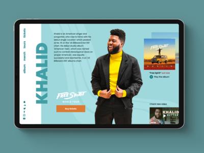 Khalid - Web design concept
