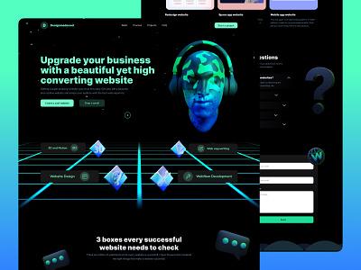 Designmadecool : Portfolio website animation modern design 3d illustration ux  ui portfolio website design web design