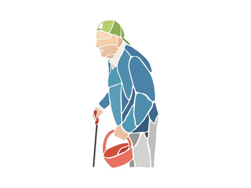 Millán flat grandpa ilustracion digital art digital illustration minimal illustrator design adobe illustrator illustration