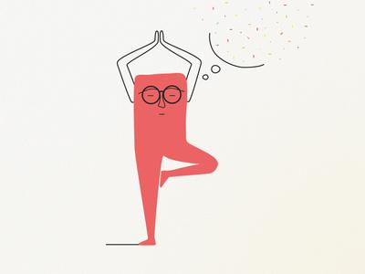 Yoga helps, vermouth helps better. doodle vector design characterdesign graphicdesign flat adobe illustrator gradients illustrator minimal illustration