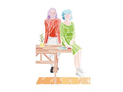 estudio cuatro cuatros flat illustration character illustration poster design digital illustration adobe illustrator furniture design illustration