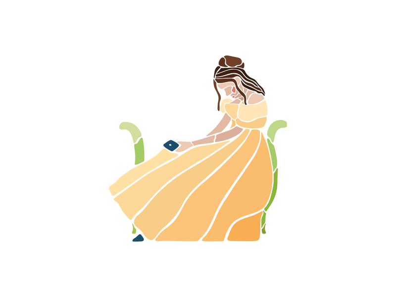 Lonely influencer in her brithday party poster design poster minimal thyssen museothyssen flat illustrator design vector adobe illustrator illustration