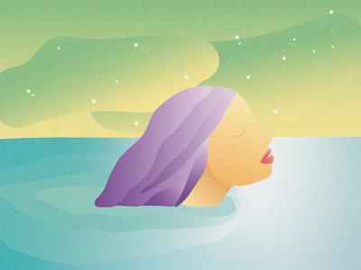 Estate ocean summer doodle gradients vector illustrator design minimal adobe illustrator illustration