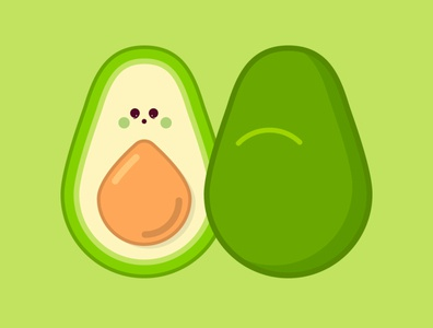 Avocado vector art fruit vector illustration fruits vectorart cute minimal illustration flat vector