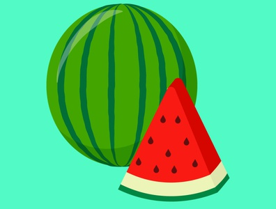 Watermelon watermelon fruit vector illustration design flat vector fruits vectorart illustration