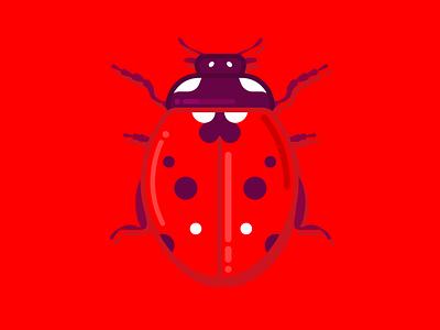 Ladybug vector art cute vector illustration vectorart minimal design illustration vector flat ladybug