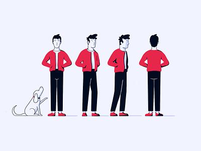 Character profile branding illustration design