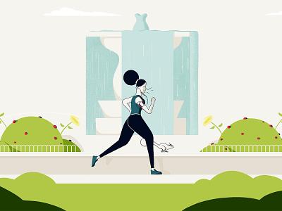 Running design branding illustration