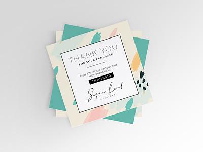 Sugar Land Interiors Thank You Card thank you card postcard design design