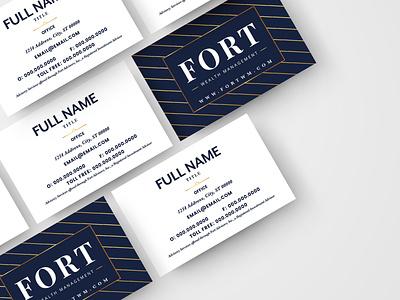 Fort Wealth Management Business Card Design design business card design