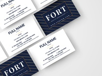 Fort Wealth Management Business Card Design