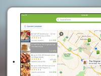 Groupon iPad Local Map