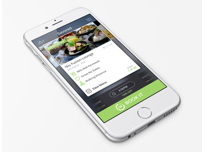 Savored iphone ios swipe green booking food mobile