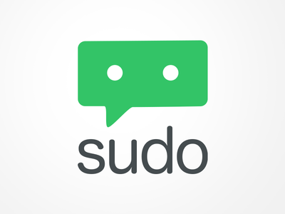 Sudo chat bubble logo chatbot sudo