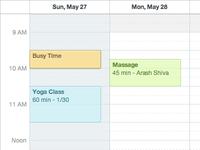 Groupon Scheduler - Calendar Colors + Contrast
