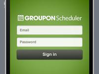 Groupon Scheduler Mobile Web Login