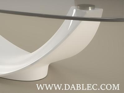 Tavolino da salotto Adone design moderno arredo mobili salotto tavolino pietra arredamento agglomerato marmo