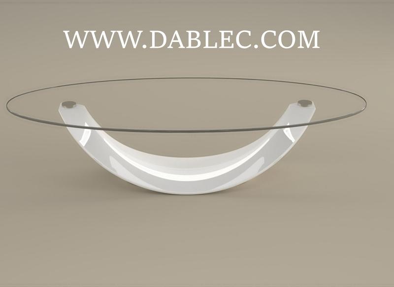 Tavolino laccato bianco lucido moderno design arredo mobili salotto tavolino pietra arredamento agglomerato marmo