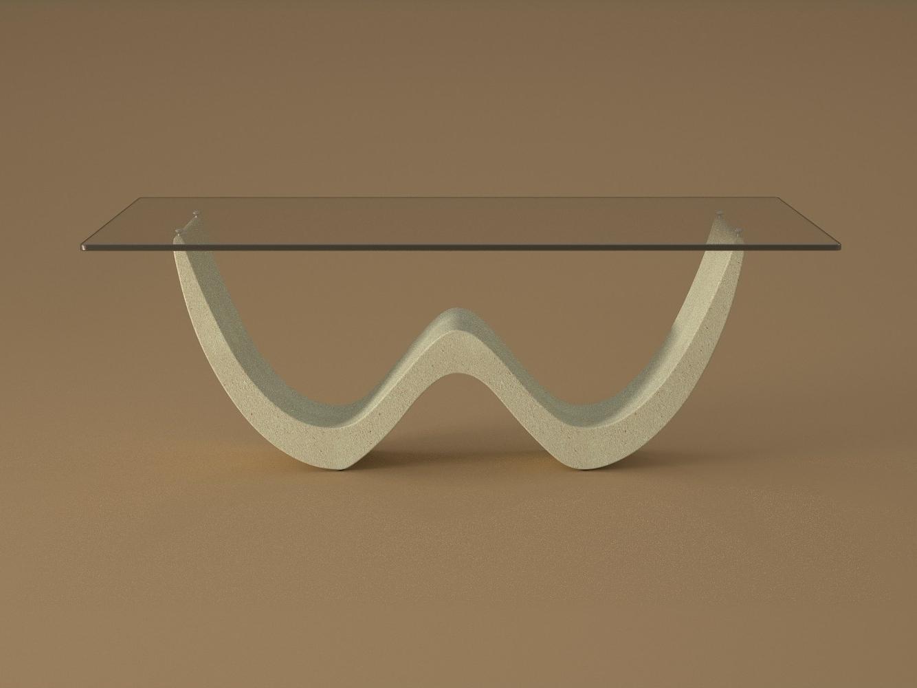 Tavolino da salotto David marmo agglomerato arredamento pietra arredo mobili design moderno salotto tavolino