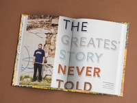 THE GREATEST STORY NEVER TOLD • Book Spread
