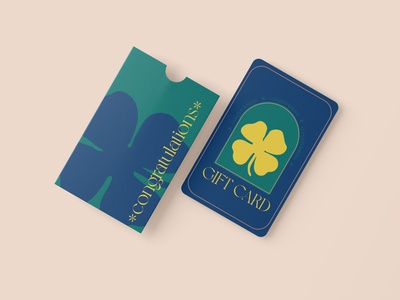 Congratulations GIFT Card gift congratulations luck clover illustrator photoshop card design gift card graphic design