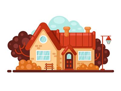 House flat logo изобразительное искусство art вектор иллюстрация