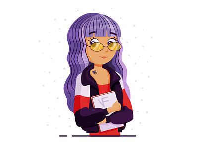 Purple illustration adobe illustrator art вектор иллюстрация