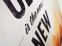 Old Is The New New - Printed