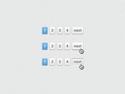 Pagination Button Hovers