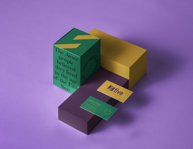 Five Packaging & Business Card Presentation