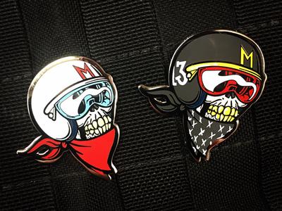 MAD Skull Racer Enamel pins