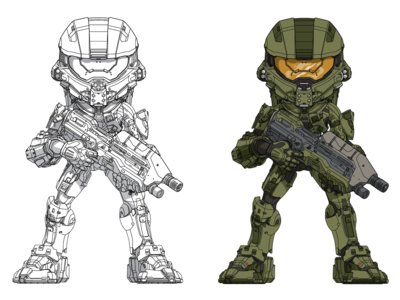 Halo5 Master Chief Figure Art