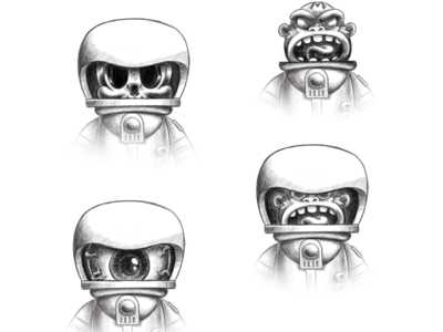 MAD Astro-Ape head options