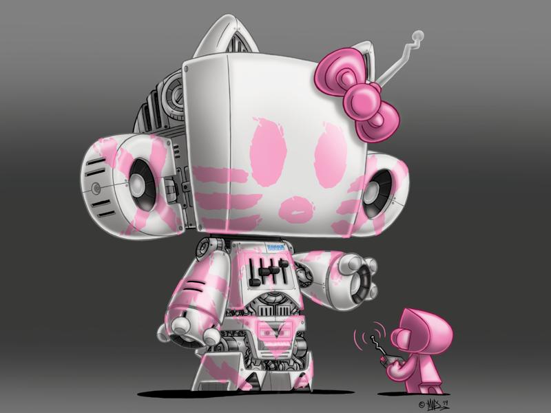 MAD HK Speakerbot digital art hello kitty toys mad toy design