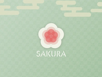 the season of sakura ( Japanese Spring ) icon illustration japanese