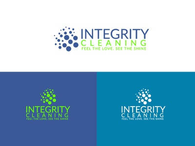 Integrity Cleaning Logo clean illustration vector identity design logo branding brand flat minimal