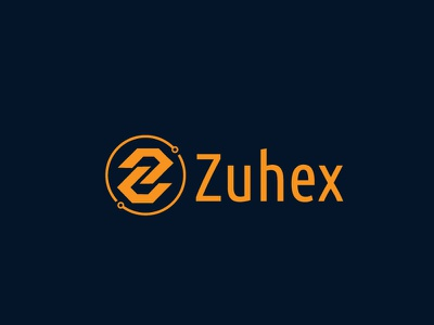 Zuhex- Crypto Currency Business Logo web blue character website identity illustrator graphic design design art clean brand vector minimal logo illustration icon flat cryptocurrency crypto branding