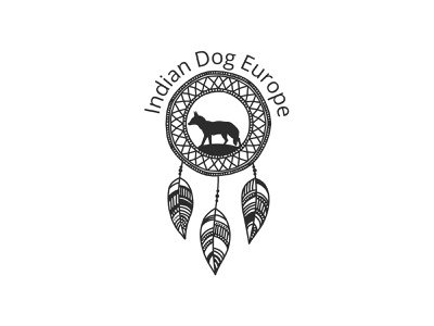 Indian Dog Europe- None Profit Organization Logo versatile minimalist modern logo web dog logo character organization nonprofit brand design identity vector illustrator flat illustration minimal clean logo logodesign branding