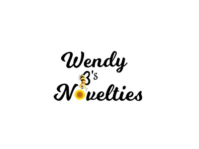 Wendy Bs Noveltie Logo modern business mobile app website web ux ui identity logo vector illustrator design clean branding brand illustration minimal handmade flat