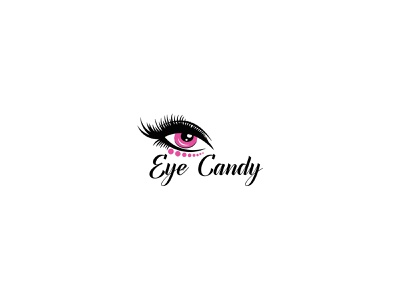 Eye Candy Logo business app mobile art web website illustrator design branding candy vector identity logo clean brand minimal flat eyecare eyecatching eye