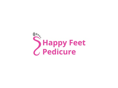 Happy Feet Pedicure Logo lettering type web business app mobile website identity vector logo illustrator illustration design clean branding brand minimal flat pedicure feet