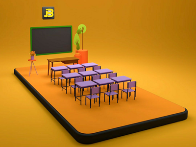 Mobile class 3d modeling 3dillustration illustration